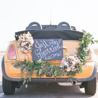Just married, California