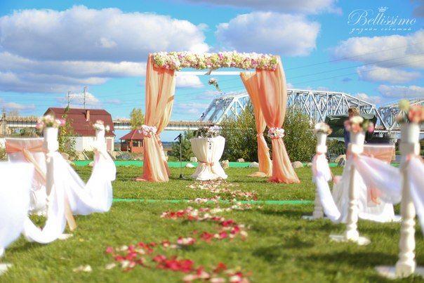 Декоративная арка для выездной регистрации - фото 2443759 Студия оформления торжеств Bellissimo
