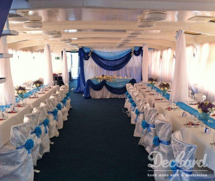 """Свадебное оформление на теплоходе! Свадьба в """"Морском стиле"""" - фото 2549967 Студия оформления Deccard"""