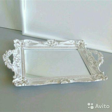 Зеркальный поднос в аренду