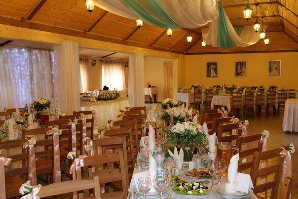 Основной банкетный зал. Прямоугольные столы - фото 3842909 Усадьба Пешково