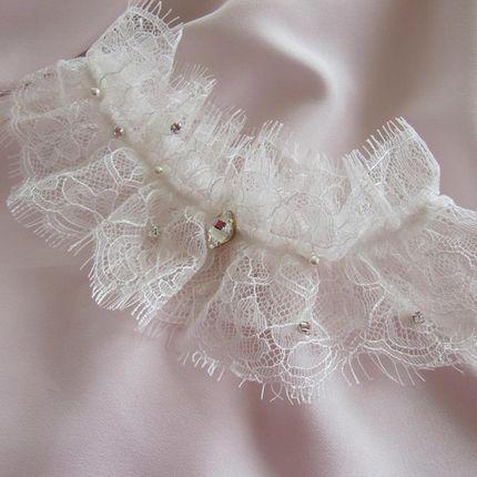 Шикарная свадебная подвязка