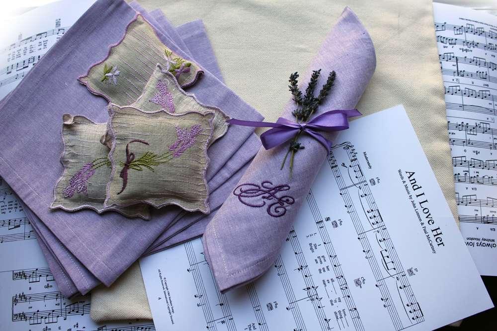 Вышивка салфеток на свадьбу
