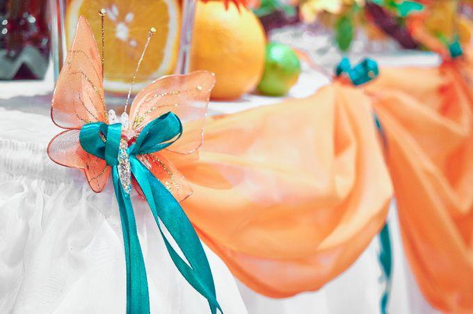 Оранжевая бабочка (Апельсиновый декор)