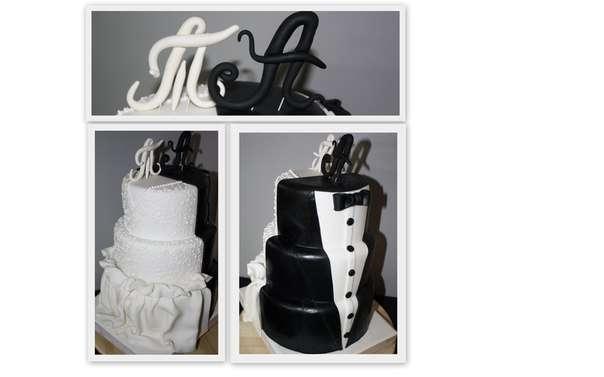 """Свадебный торт по эскизу заказчицы - фото 2575759 Кулинарная мастерская """"Мисс Бисквит"""""""