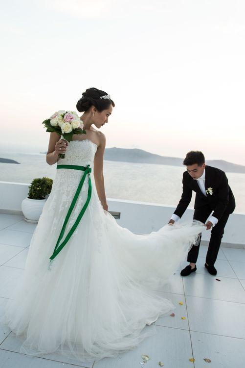 Анара и Дима - Свадьба на Санторини.