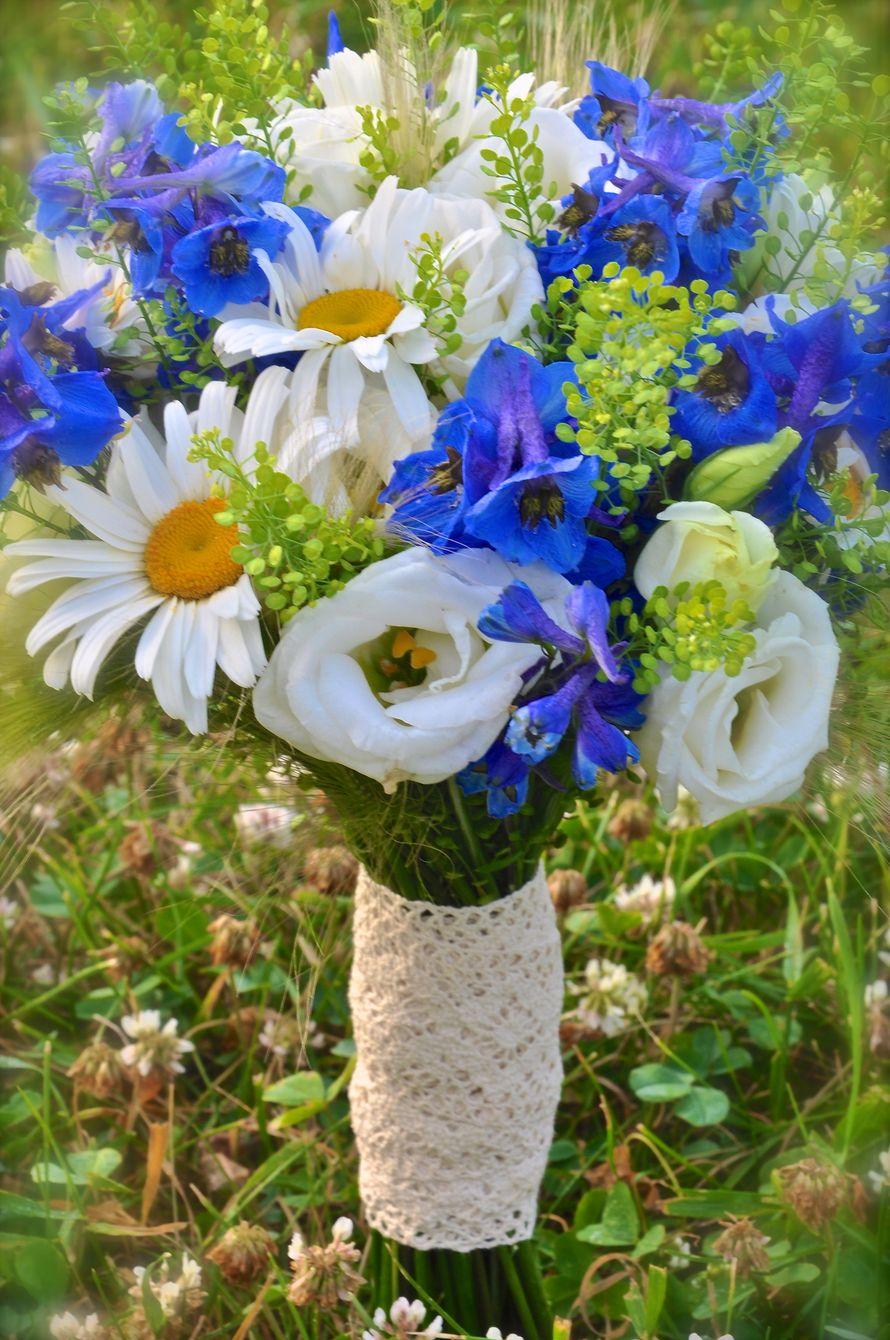Букета, букеты невесты ромашки васильками