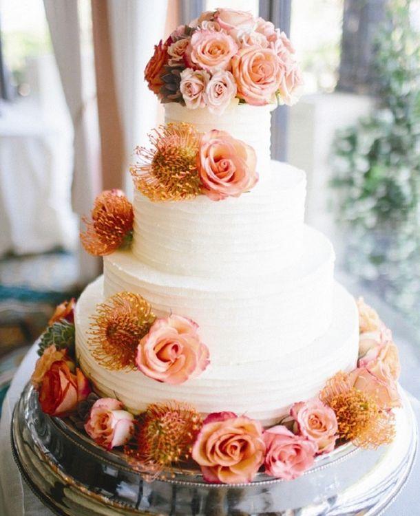 Декор белых тортов