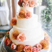 Суккулент, розы и протея в декоре торта