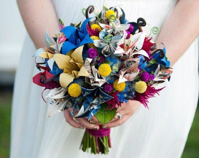 Каллы букете, свадебный букет не из цветов