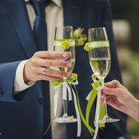 """Свадьба в стиле """"Принцесса на горошине"""", бокалы."""