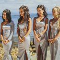 """Свадьба в стиле """"Оскар"""" Подружки невесты в серебристо-серых платьях"""