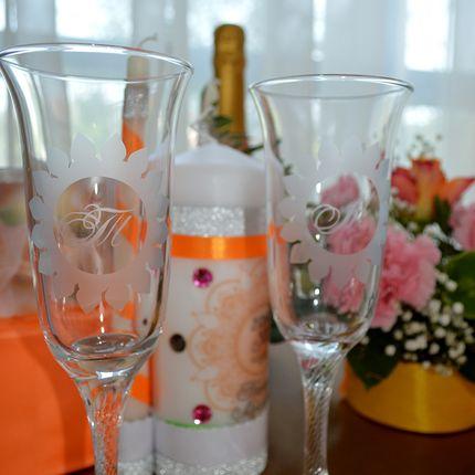 Бокалы невесты и жениха