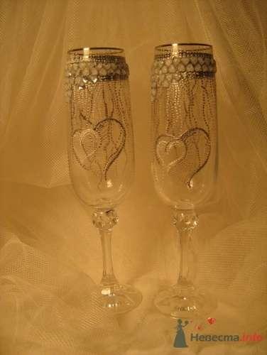 """Свадебные бокалы - фото 17177 """"Ileli"""" - свадебные бокалы ручной росписи"""