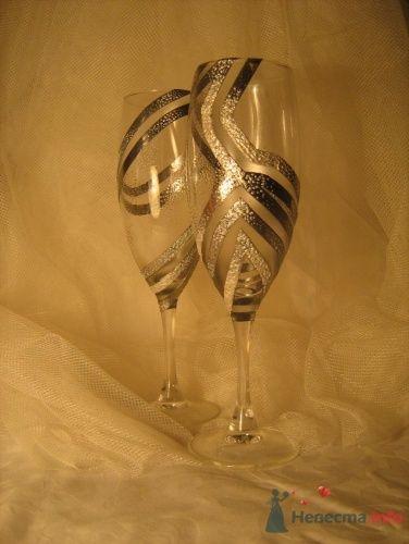 """Свадебные бокалы - фото 17178 """"Ileli"""" - свадебные бокалы ручной росписи"""