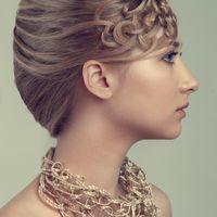 Прическа: Лена Колпакова|Плетеное украшение на шею
