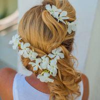 Это традиционные цветочки Греции. Растут на каждом шагу! Правда и менять их надо каждый час на волосах)