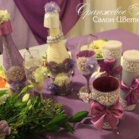 Декор бутылок, свечей, фужеров