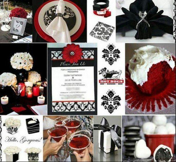Черный и бордо в свадебном декоре.
