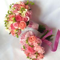 Букет невесты и дублер в пастельных тонах