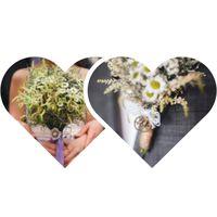 Букет невесты и бутоньерка в рустикальном стиле