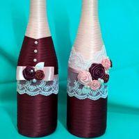 Декор шампанского с цвете марсала