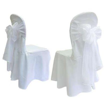 Белые бантики на стулья