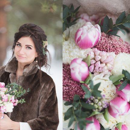 Нежный и весенний букет невесты