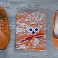 Обложка для свидетельства о браке для совино-оранжевой свадьбы. Сделана на заказ. Возможно любое исполнение под стиль Вашей свадьбы. Цена от 1600 руб.