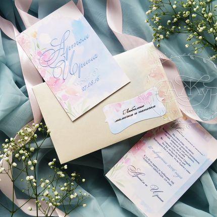"""Свадебное приглашение """"Дымка"""", цена за 1 шт."""