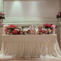 красивое оформление стола молодых