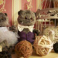 одежда для мягких игрушек на стол жениху и невесте