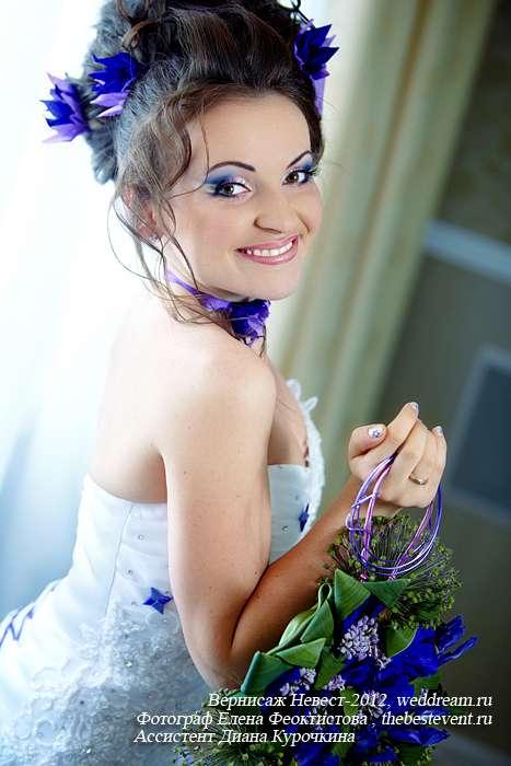 макияж для сиренево-фиолетовой свадьбы - фото 2972597 Визажист Людмила Багарян