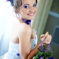 макияж для сиренево-фиолетовой свадьбы