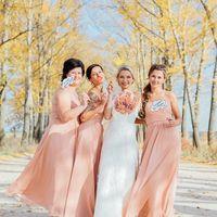 Невеста и её подружки в нежно-розовом