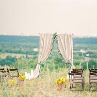 Арка для выездной регистрации на свадьба Анны и Михаила в стиле rustic