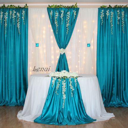 Оформление свадьбы в бирюзово-изумрудном цвете