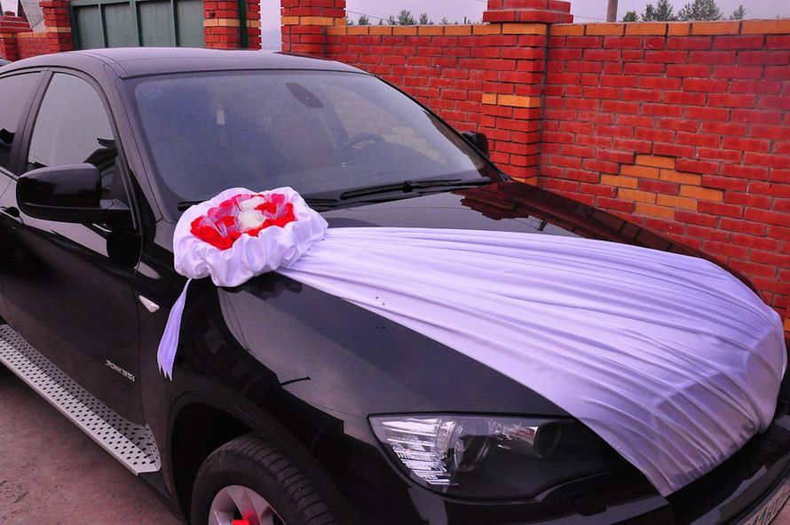 Украшение машины на свадьбу тканью своими руками