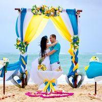 Выездная церемония регистрации на пляже