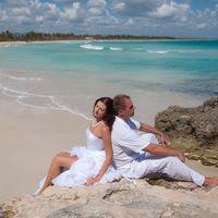 жених и невеста, съемка в Доминикане,  пляж Макао,  скалы