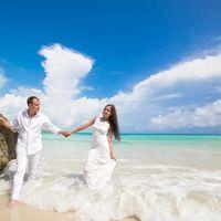 жених и невеста, съемка в Доминикане,  пляж Макао,  любовь, океан, с