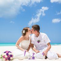 жених и невеста, съемка в Доминикане,  остров Саона,  любовь, океан, поцелуй