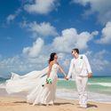 жених и невеста, съемка в Доминикане,  пляж Макао, океан, улыбка, любовь, счастье, молодость, свадьба