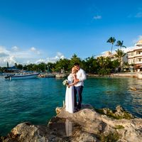 Доминикана, остров Саона, свадьба в голубом цвете, закат