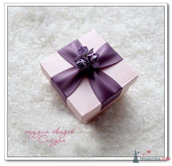 Фиолетовая коробочка