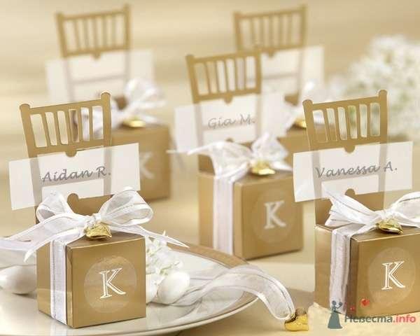 """Золотые стулья, бонбоньерки - фото 43586 Студии """"Сакура"""" - свадебные аксессуары"""