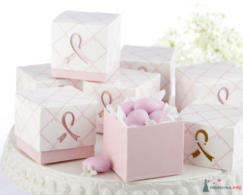 Розовый презент, бонбоньерки