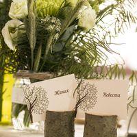"""""""Лесная"""" свадьба : деревянные подставочки под рассадочные карточки"""