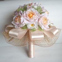 Букет невесты (дублер). Ручная работа, материал - шефон