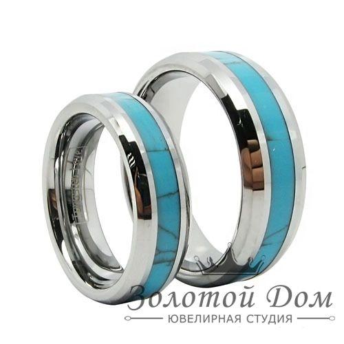 Обручальные кольца с бирюзой